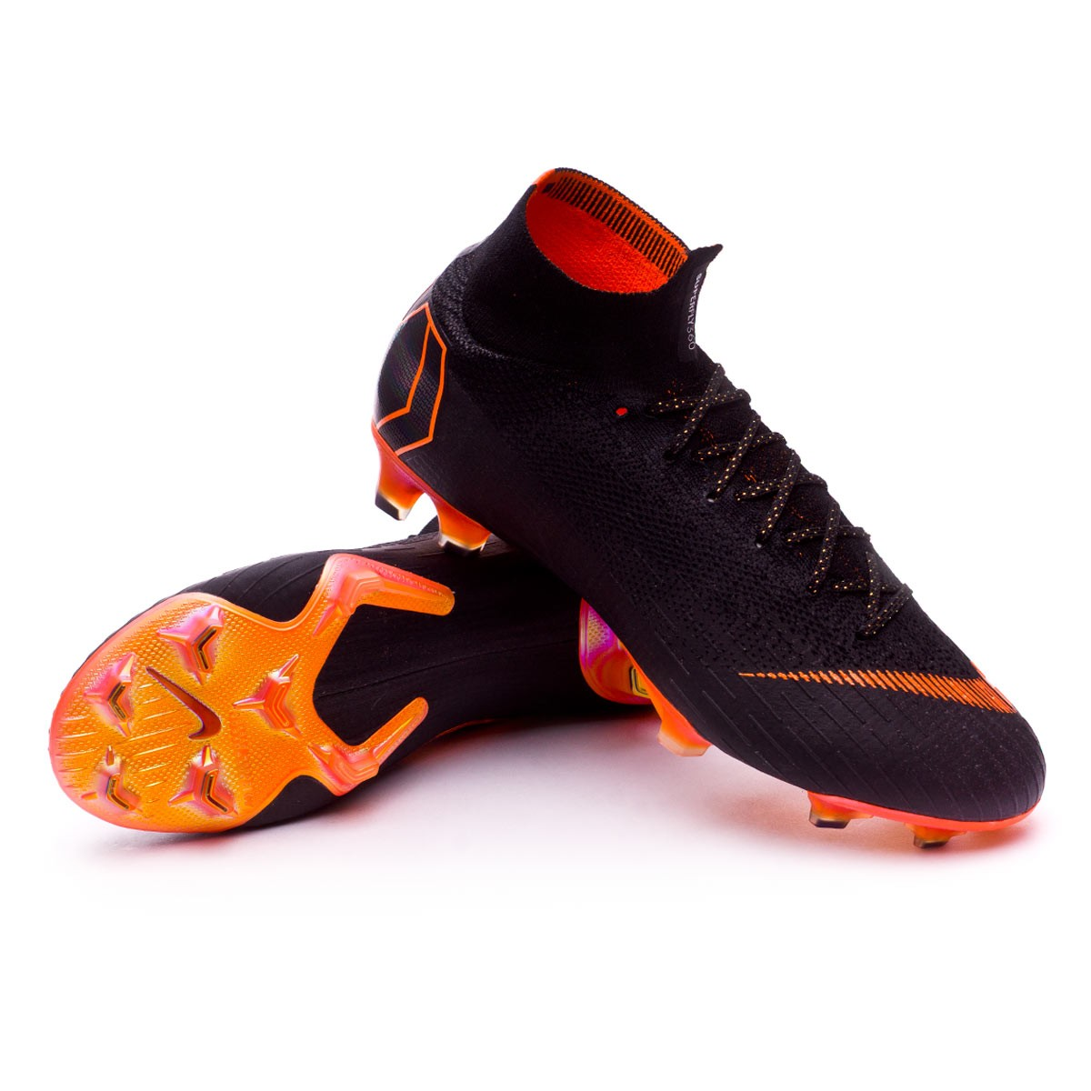 bbf358adcc5b Football Boots Nike Mercurial Superfly VI Elite FG Black-Total orange-White  - Tienda de fútbol Fútbol Emotion