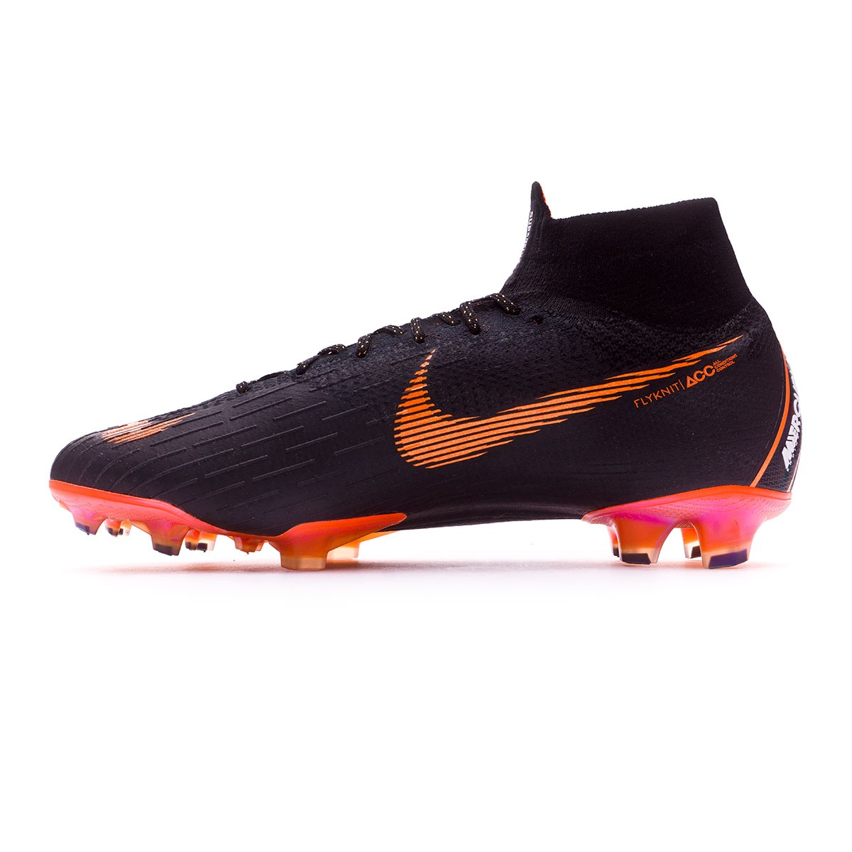e17a14612 Football Boots Nike Mercurial Superfly VI Elite FG Black-Total orange-White  - Football store Fútbol Emotion