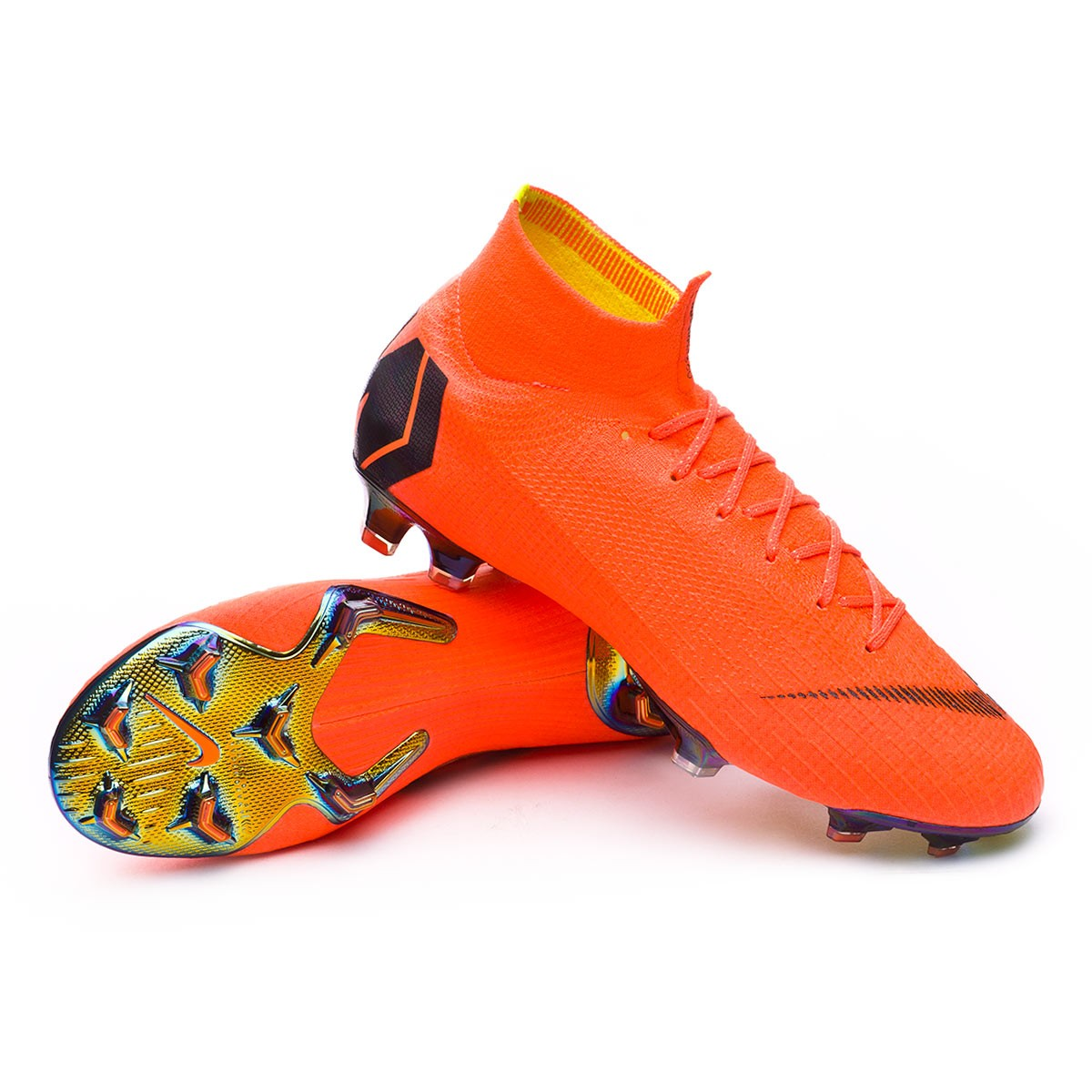 Boot Nike Mercurial Superfly VI Elite FG Total orange-Black-Volt - Football  store Fútbol Emotion 45ea4c383a65