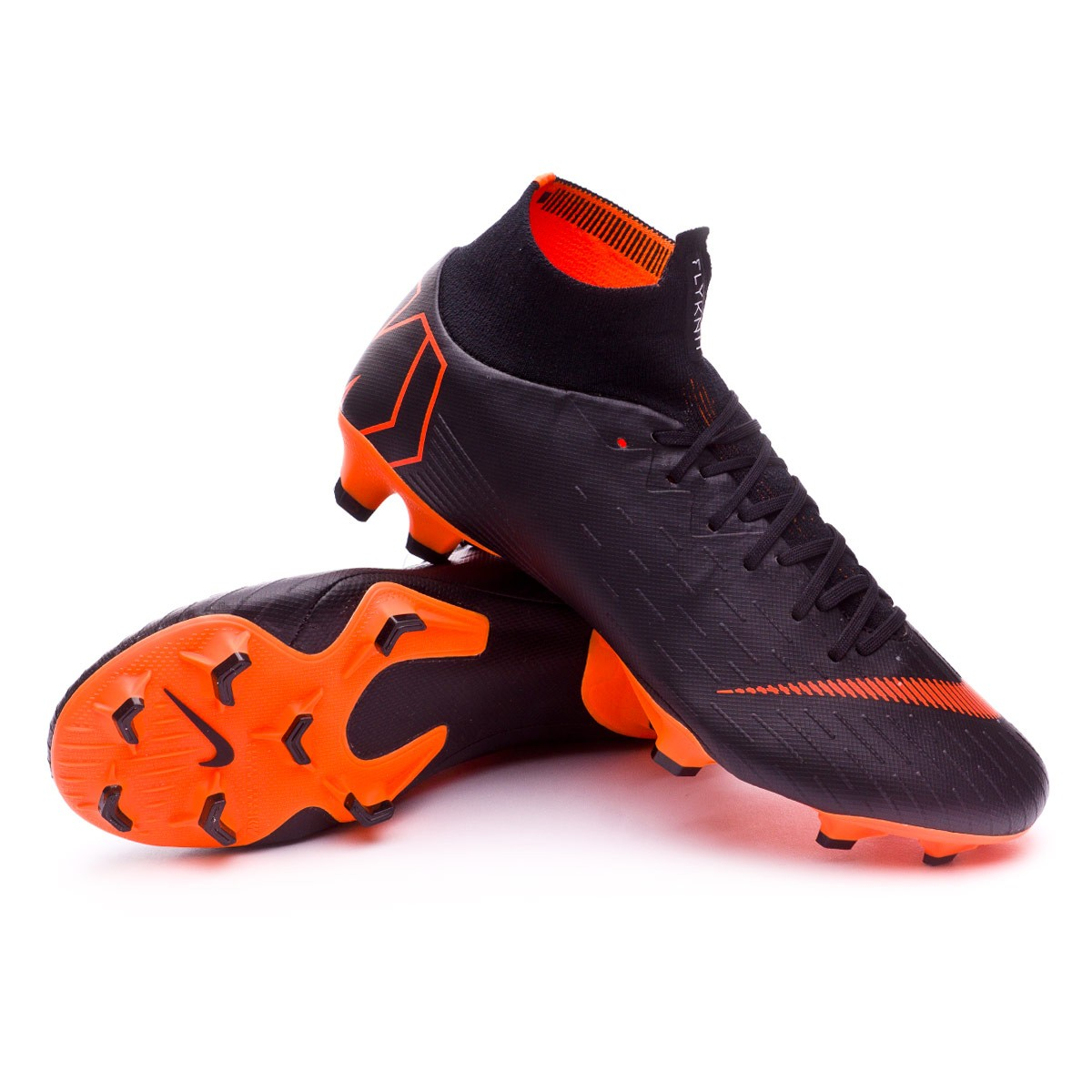 e4b8430de79d Football Boots Nike Mercurial Superfly VI Pro FG Black-Total orange ...