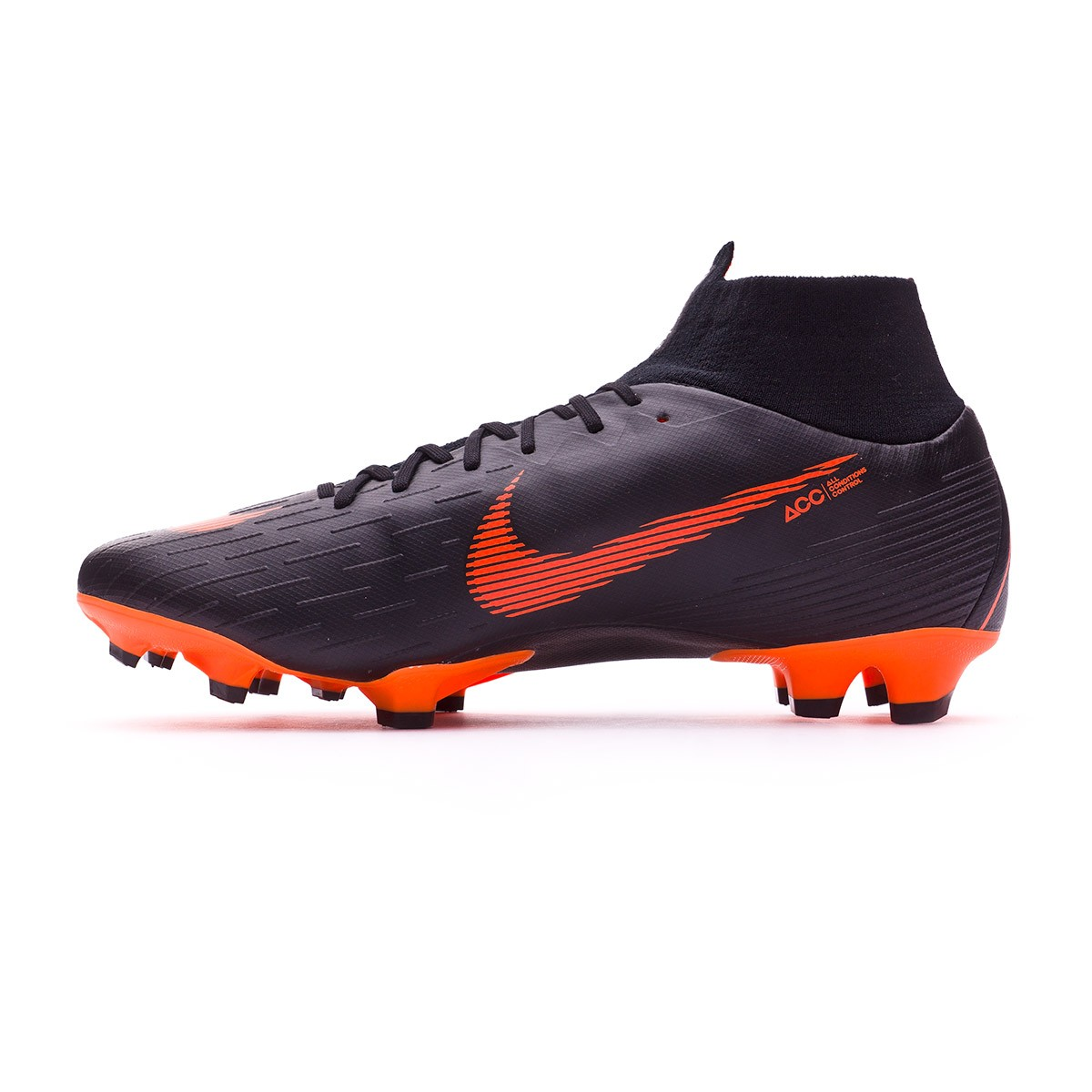 6906f02dd2d7 Football Boots Nike Mercurial Superfly VI Pro FG Black-Total orange-White -  Tienda de fútbol Fútbol Emotion