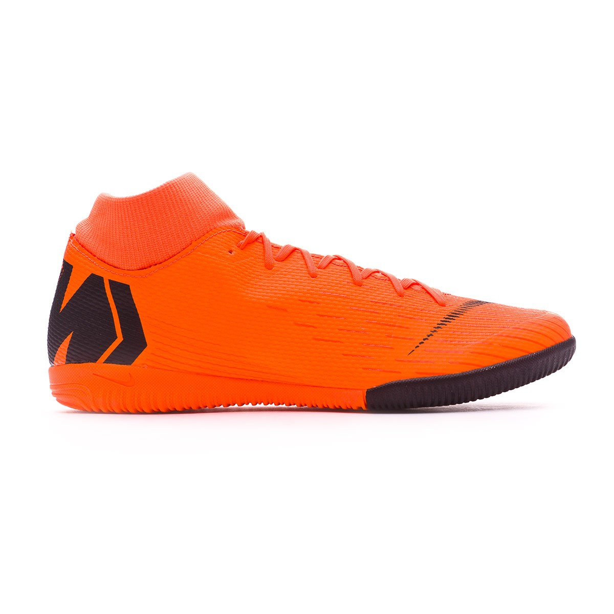 d0459df3625e Futsal Boot Nike Mercurial SuperflyX VI Academy IC Total orange-Black-Volt  - Football store Fútbol Emotion