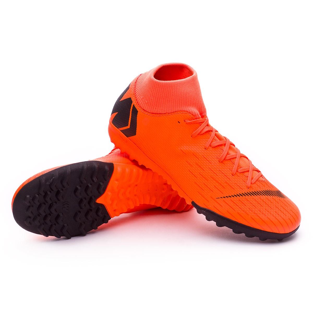 08b6ab9545 Tenis Nike Mercurial SuperflyX VI Academy Turf Total orange-Black-Volt -  Tienda de fútbol Fútbol Emotion