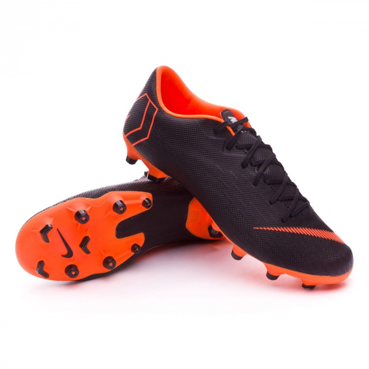 8059cc892791e Chuteira Nike Mercurial Vapor XII Academy MG Black-Total orange ...