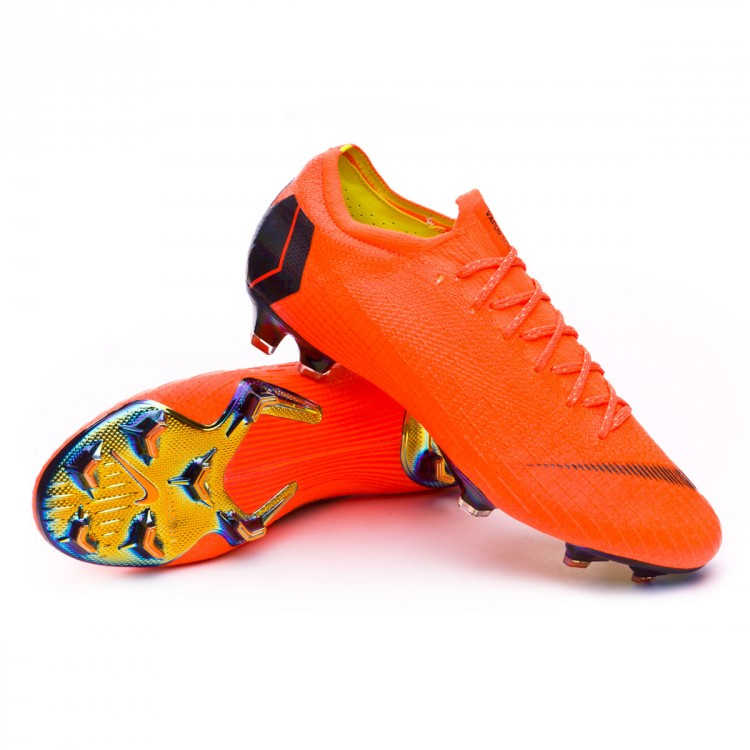 7ac07303d58 Football Boots Nike Mercurial Vapor XII Elite FG Total orange-Black ...