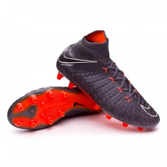 Zapatos de fútbol  Nike Hypervenom Phantom III Elite DF AG-Pro Dark grey-Total orange-White