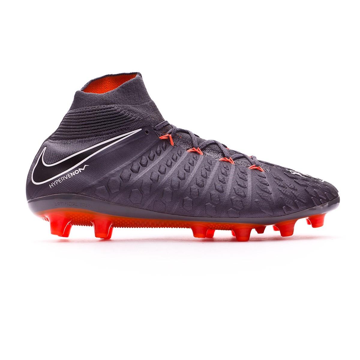 online retailer 5b236 dac63 Football Boots Nike Hypervenom Phantom III Elite DF AG-Pro Dark grey-Total  orange-White - Tienda de fútbol Fútbol Emotion