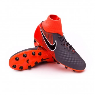 Zapatos de fútbol  Nike Magista Obra II Academy DF AG-Pro Niño Dark grey-Black-Total orange-White