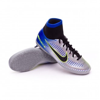 Zapatilla  Nike MercurialX Victory VI DF IC Neymar Niño Racer blue-Black-Chrome-Volt