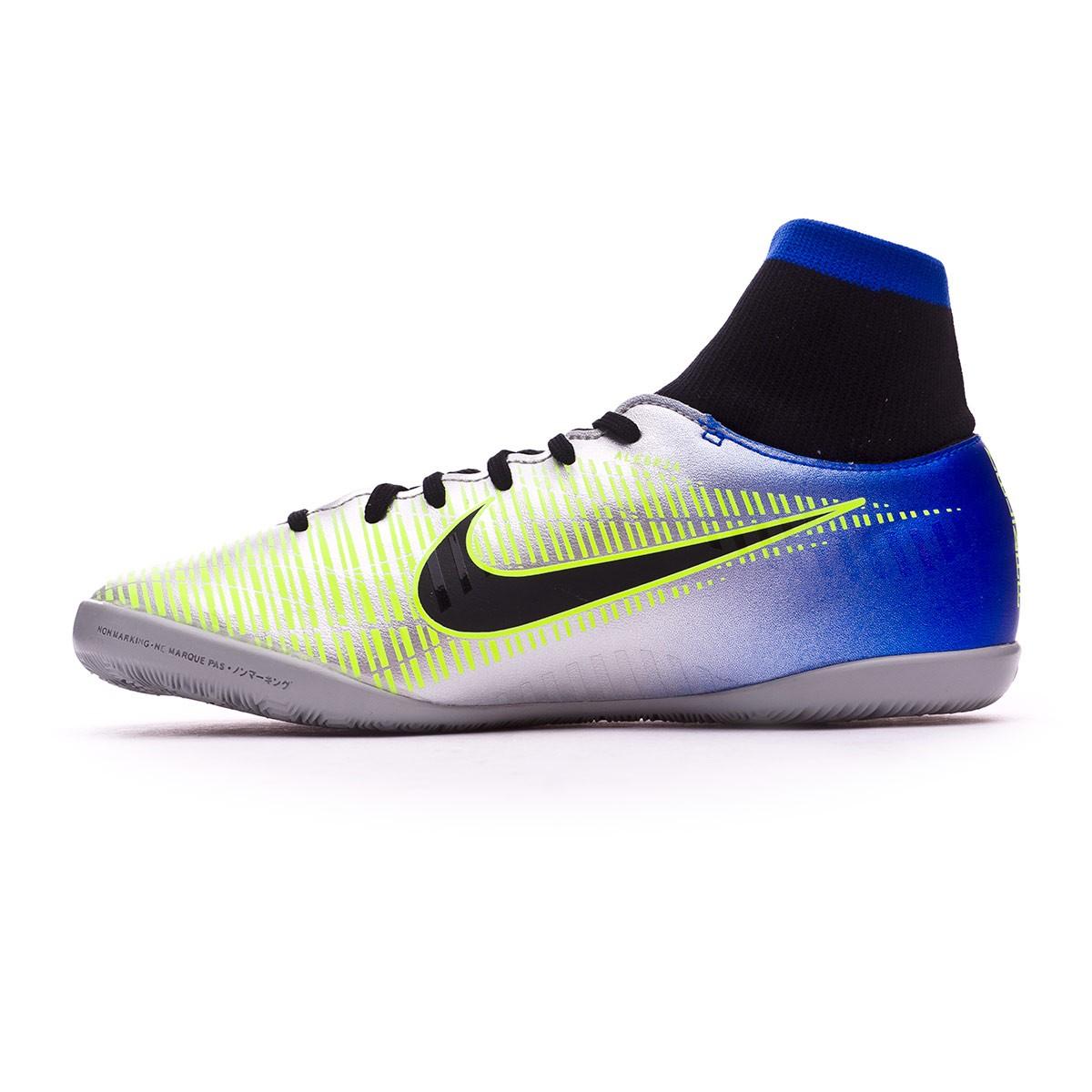 72afc5b50 Futsal Boot Nike Kids MercurialX Victory VI DF IC Neymar Racer blue-Black-Chrome-Volt  - Football store Fútbol Emotion