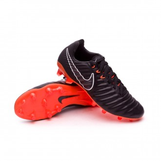 Kids Tiempo Legend VII Elite FG  Black-Total orange-Black-White