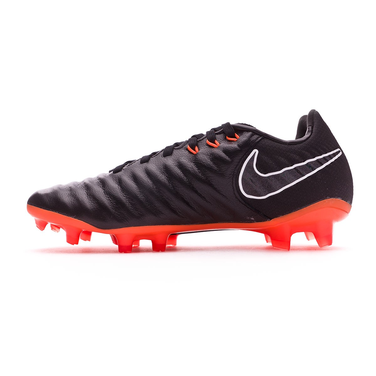 buy popular a4d01 3ad7a Bota Tiempo Legend VII Elite FG Niño Black-Total orange-Black-White
