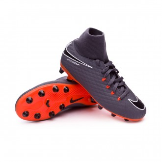 Zapatos de fútbol  Nike Hypervenom Phantom III Academy DF AG-Pro Niño Dark grey-Total orange-White