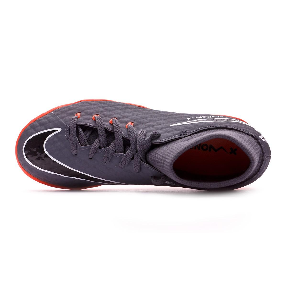 c87c191df553 Futsal Boot Nike Kids Hypervenom PhantomX III Academy DF IC Dark grey-Total  orange-White - Football store Fútbol Emotion