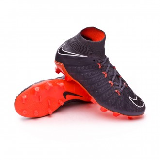 Zapatos de fútbol  Nike Hypervenom Phantom III Elite DF FG Niño Dark grey-Total orange-White