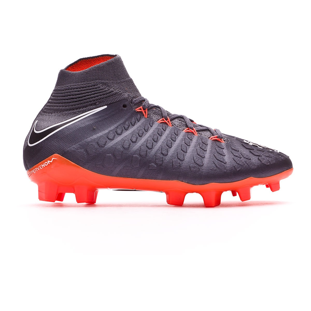 0ad1113119cf6 Chaussure de foot Nike Hypervenom Phantom III Elite DF FG Enfant Dark  grey-Total orange-White - Boutique de football Fútbol Emotion