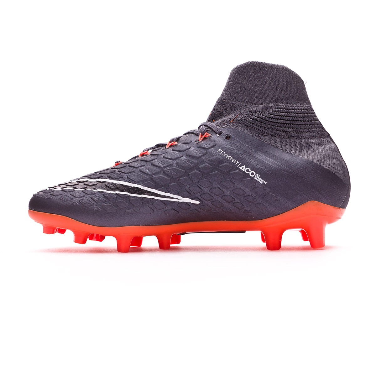1a5638cfc Football Boots Nike Kids Hypervenom Phantom III Elite DF FG Dark grey-Total  orange-White - Football store Fútbol Emotion