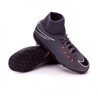 Tenis  Nike Hypervenom PhantomX III Academy DF Turf Niño Dark grey-Total orange-White
