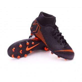 Chuteira  Nike Mercurial Superfly VI Club MG Crianças Black-Total orange-White