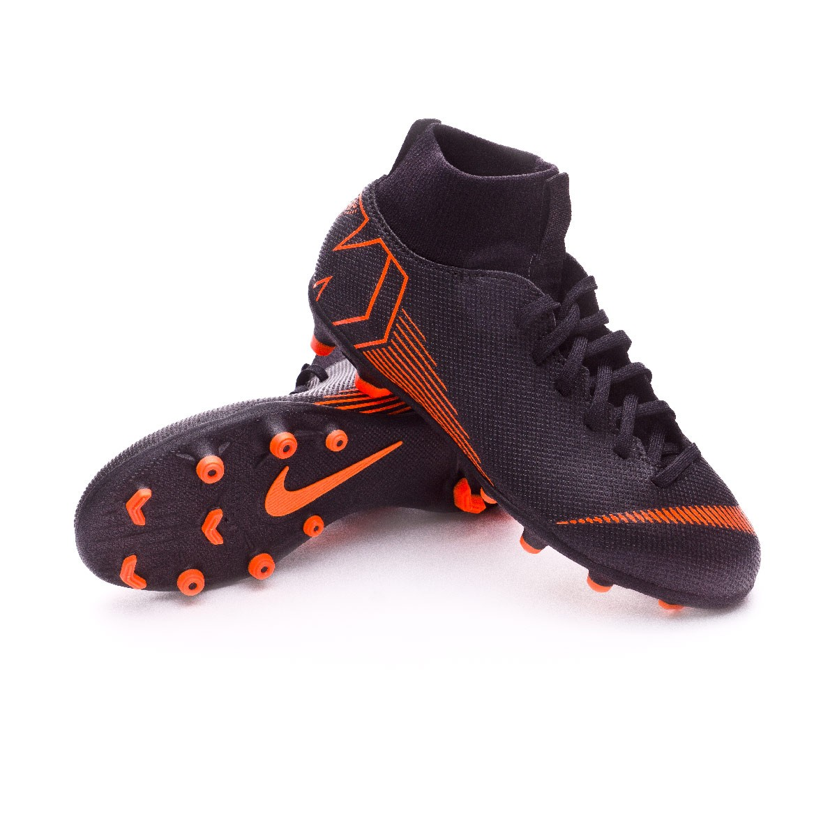 8650a94c572bf Zapatos de fútbol Nike Mercurial Superfly VI Club MG Niño Black-Total  orange-White - Tienda de fútbol Fútbol Emotion