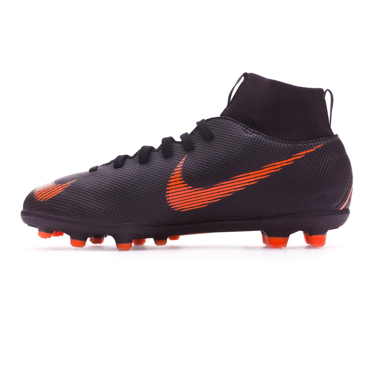 90299b59f691d Football Boots Nike Kids Mercurial Superfly VI Club MG Black-Total  orange-White - Tienda de fútbol Fútbol Emotion