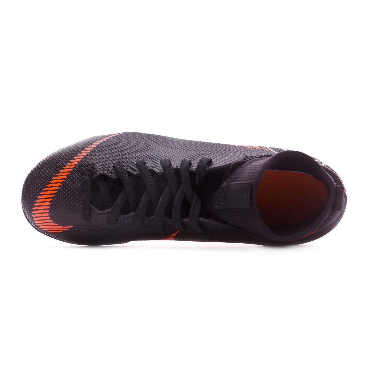 a1a31f69d1ac Scarpe Nike Mercurial Superfly VI Club MG Junior Black-Total orange-White - Negozio  di calcio Fútbol Emotion