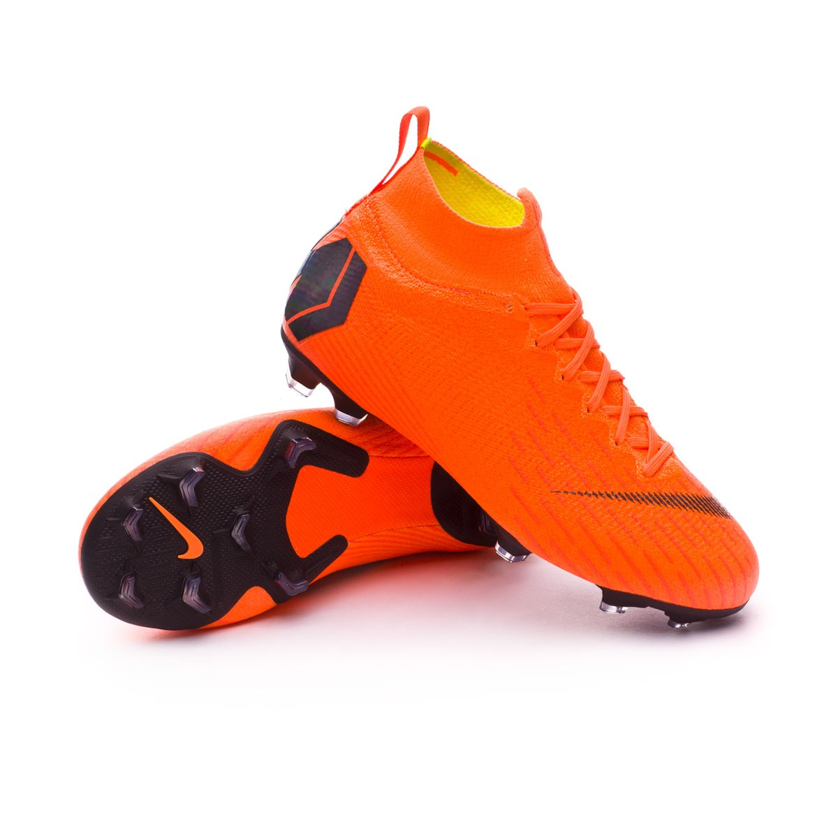 b4c56aab6f1e Football Boots Nike Kids Mercurial Superfly VI Elite FG Total orange ...