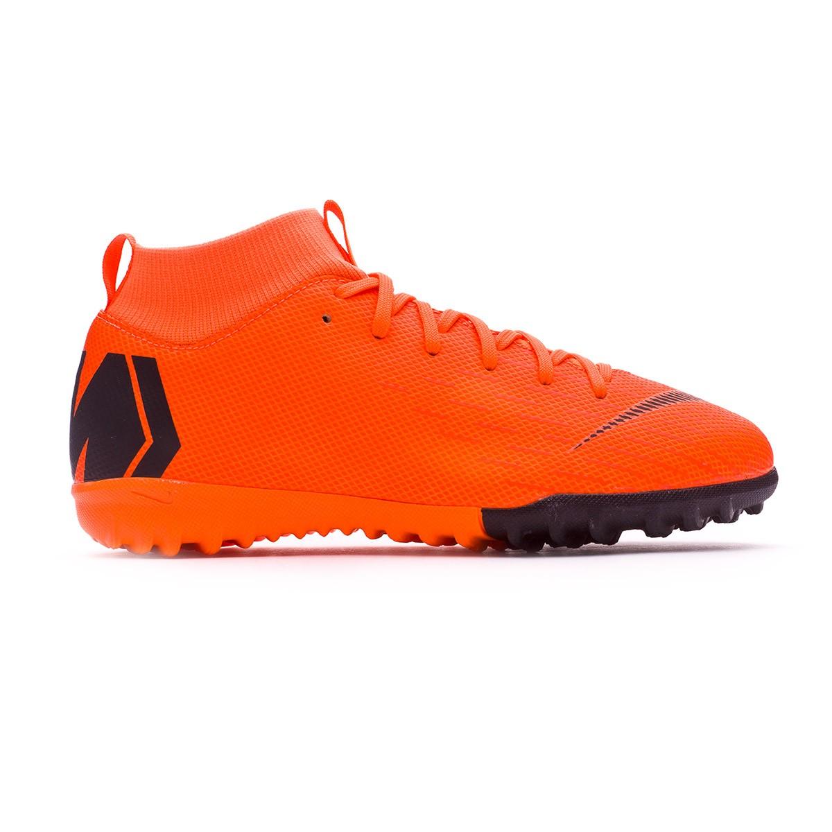 322cab98908 Football Boot Nike Kids Mercurial SuperflyX VI Academy GS Turf Total orange- Black-Volt - Tienda de fútbol Fútbol Emotion