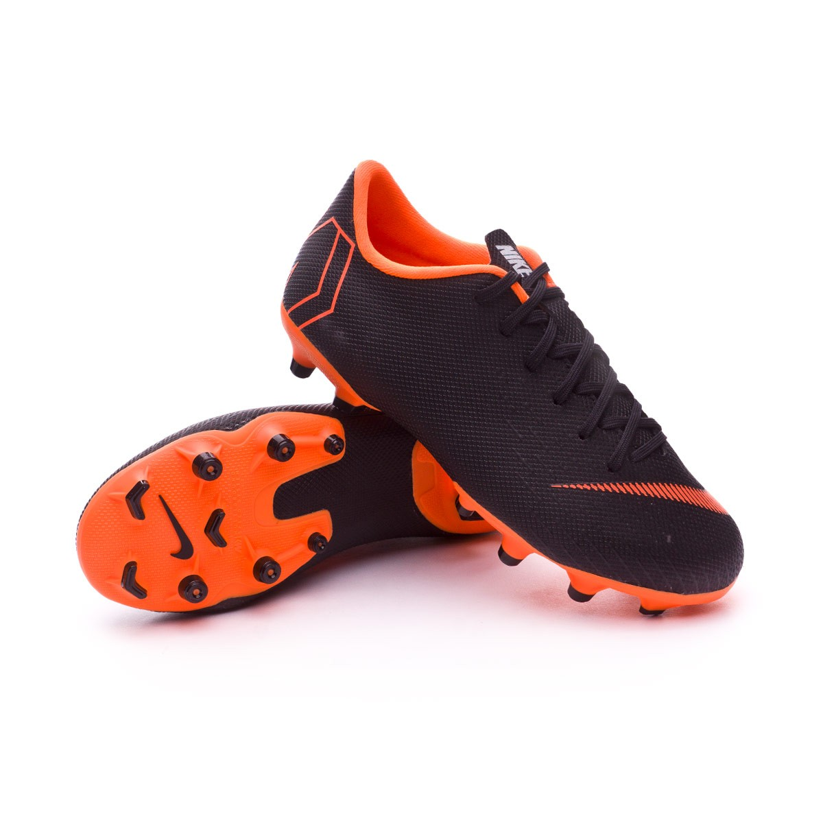2f1d72af9 Nike Kids Mercurial Vapor XII Academy GS MG Football Boots. Black-Total  orange-White ...