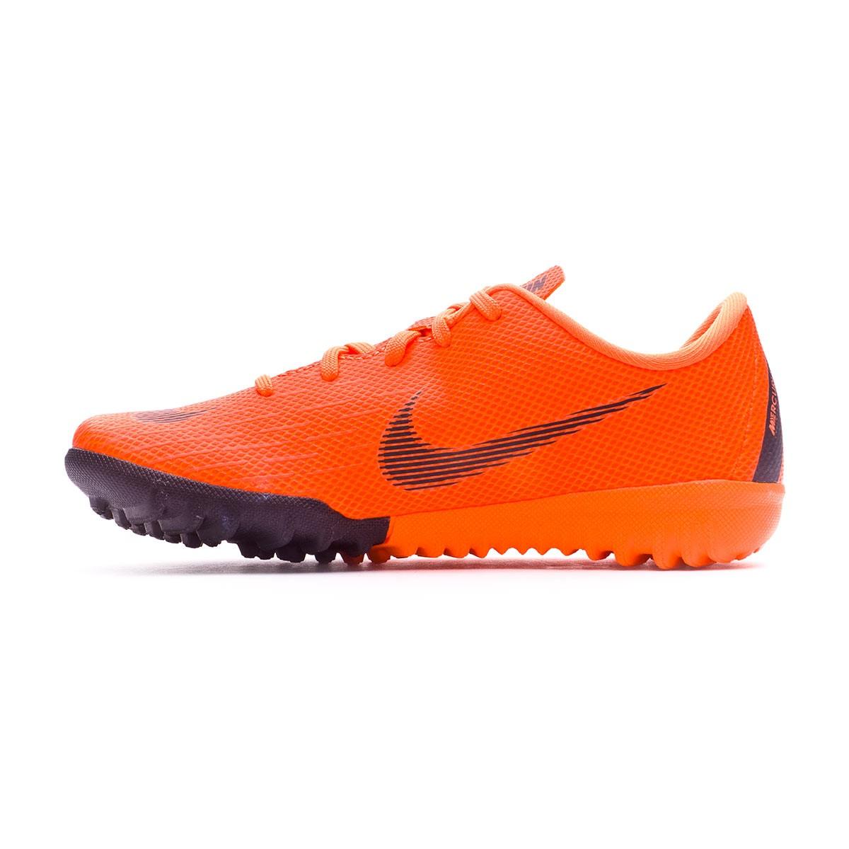 d88e45d05fc1 Football Boot Nike Kids Mercurial VaporX XII Academy PS Turf Total orange- Black-Volt - Football store Fútbol Emotion
