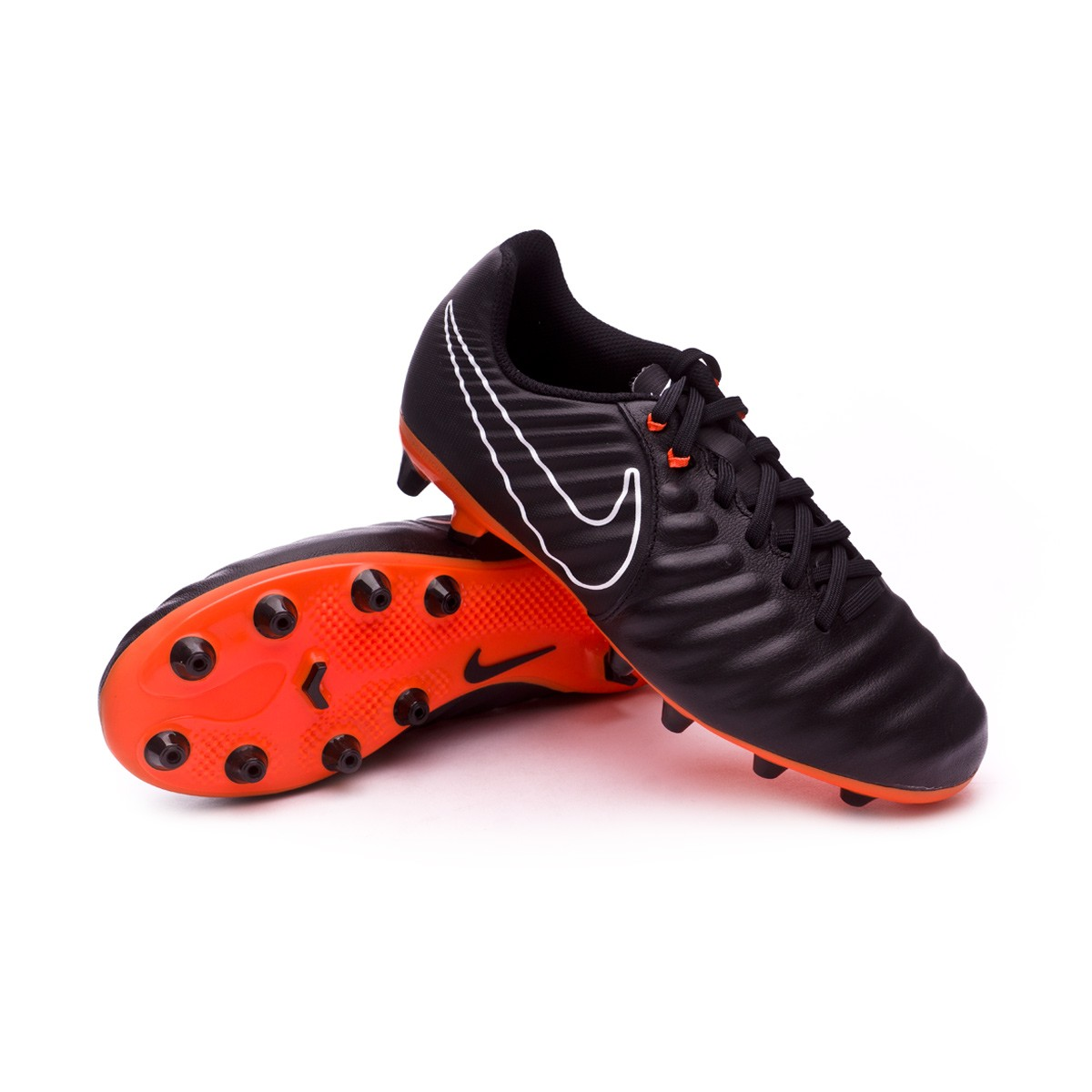 Boot Nike Tiempo Legend VII Academy AG-Pro Kids Black-Total orange ... 053177e3c96c