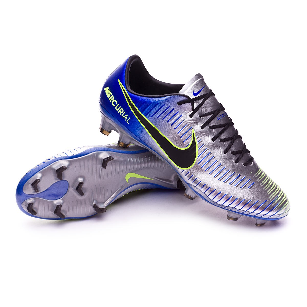 ángel Onza Biblia  Football Boots Nike Mercurial Vapor XI FG Neymar Racer  blue-Black-Chrome-Volt - Football store Fútbol Emotion