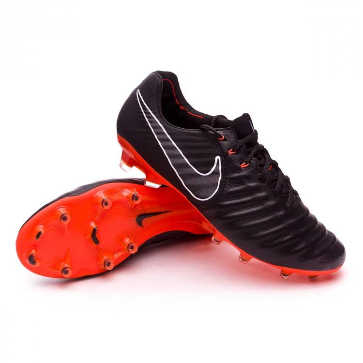 3703e6a7a Football Boots Nike Tiempo Legend VII Elite FG Black-Total orange ...