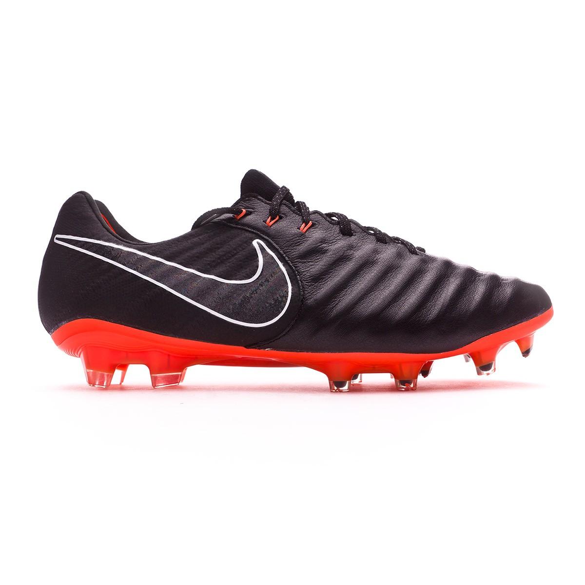 b53eddf77e2d Football Boots Nike Tiempo Legend VII Elite FG Black-Total orange-White - Football  store Fútbol Emotion