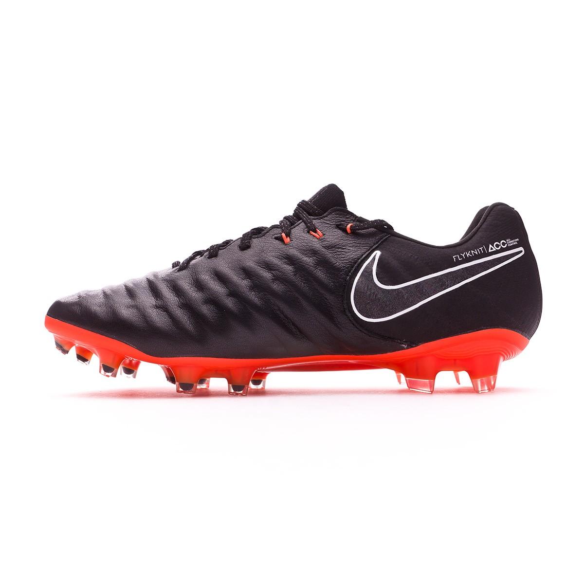 e25e6007e3f Football Boots Nike Tiempo Legend VII Elite FG Black-Total orange-White -  Football store Fútbol Emotion