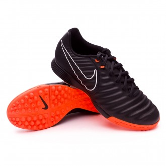 Football Boot  Nike Tiempo LegendX VII Academy Turf Black-Total orange-White