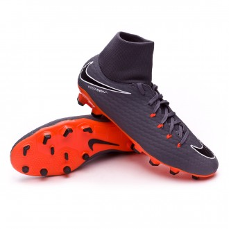 Zapatos de fútbol  Nike Hypervenom Phantom III Academy DF FG Dark grey-Total orange-White