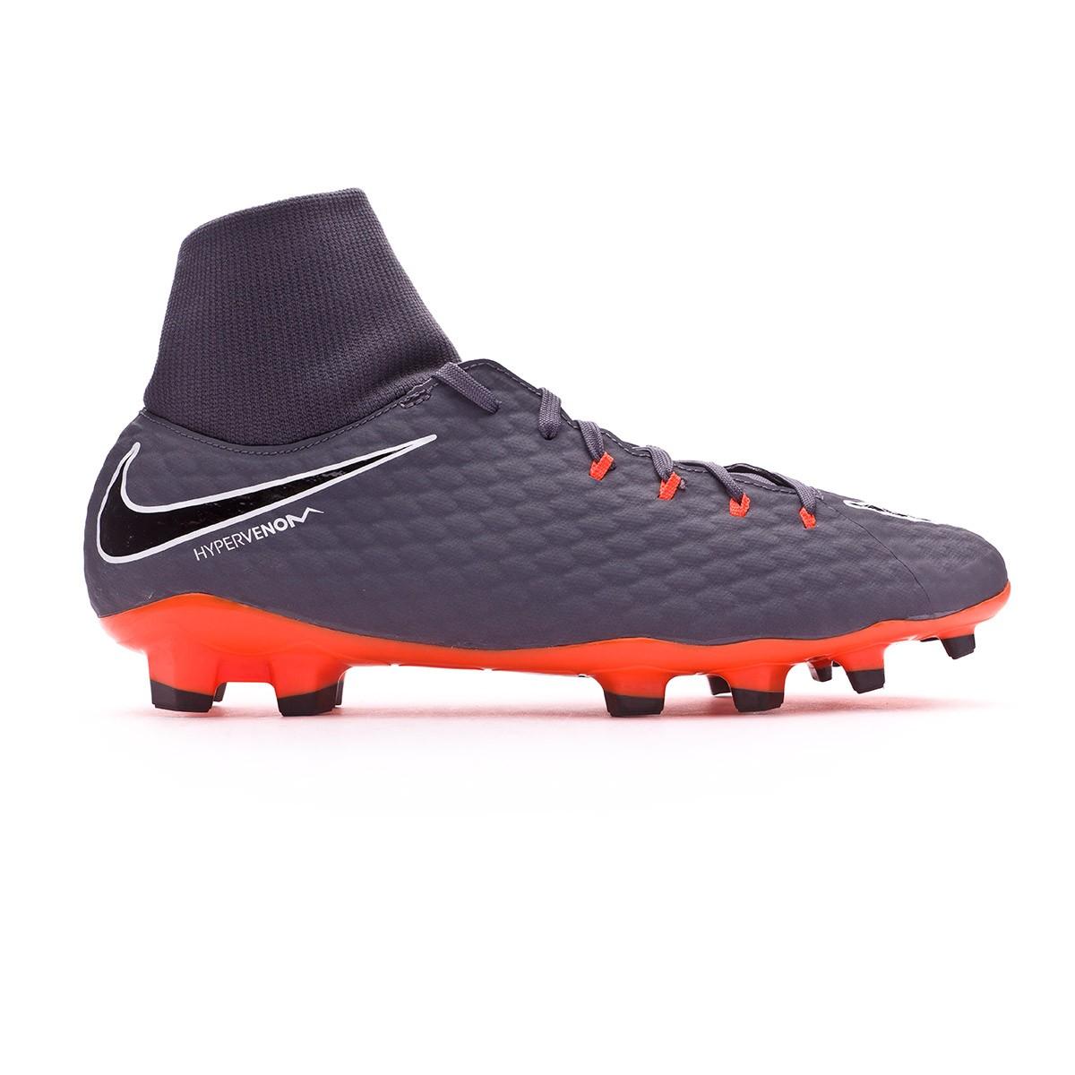 aac0e42eb Zapatos de fútbol Nike Hypervenom Phantom III Academy DF FG Dark grey-Total  orange-White - Tienda de fútbol Fútbol Emotion