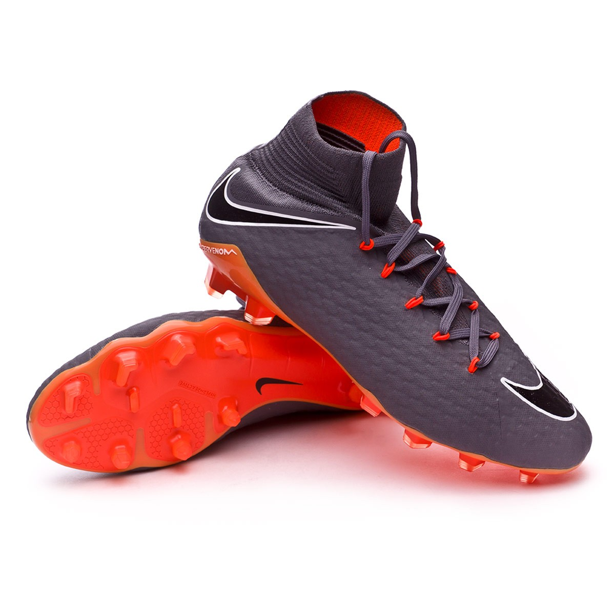 e89102006e5 Football Boots Nike Hypervenom Phantom III Pro DF FG Dark grey-Total ...