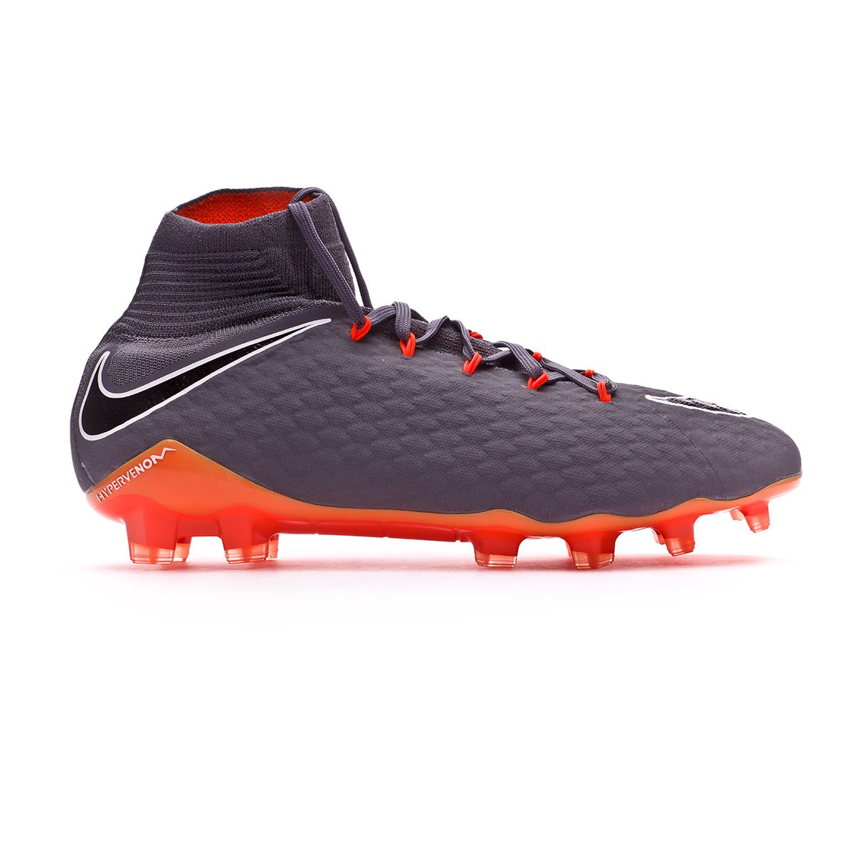 89f012a8b Football Boots Nike Hypervenom Phantom III Pro DF FG Dark grey-Total  orange-White - Football store Fútbol Emotion