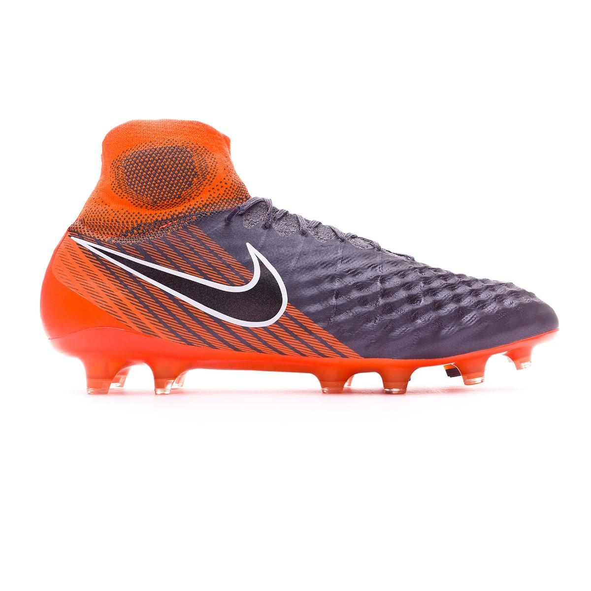 dfca26a505956 Football Boots Nike Magista Obra II Elite DF FG Dark grey-Black-Total orange -White - Tienda de fútbol Fútbol Emotion