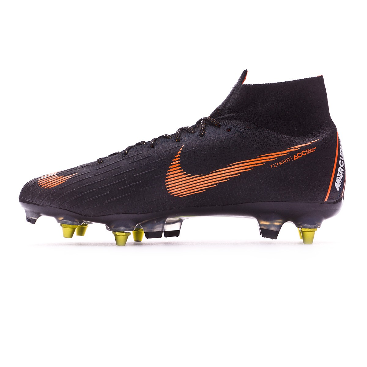 68a28ef96 Football Boots Nike Mercurial Superfly VI Elite SG-Pro Anti-Clog Black-Total  orange-White - Football store Fútbol Emotion