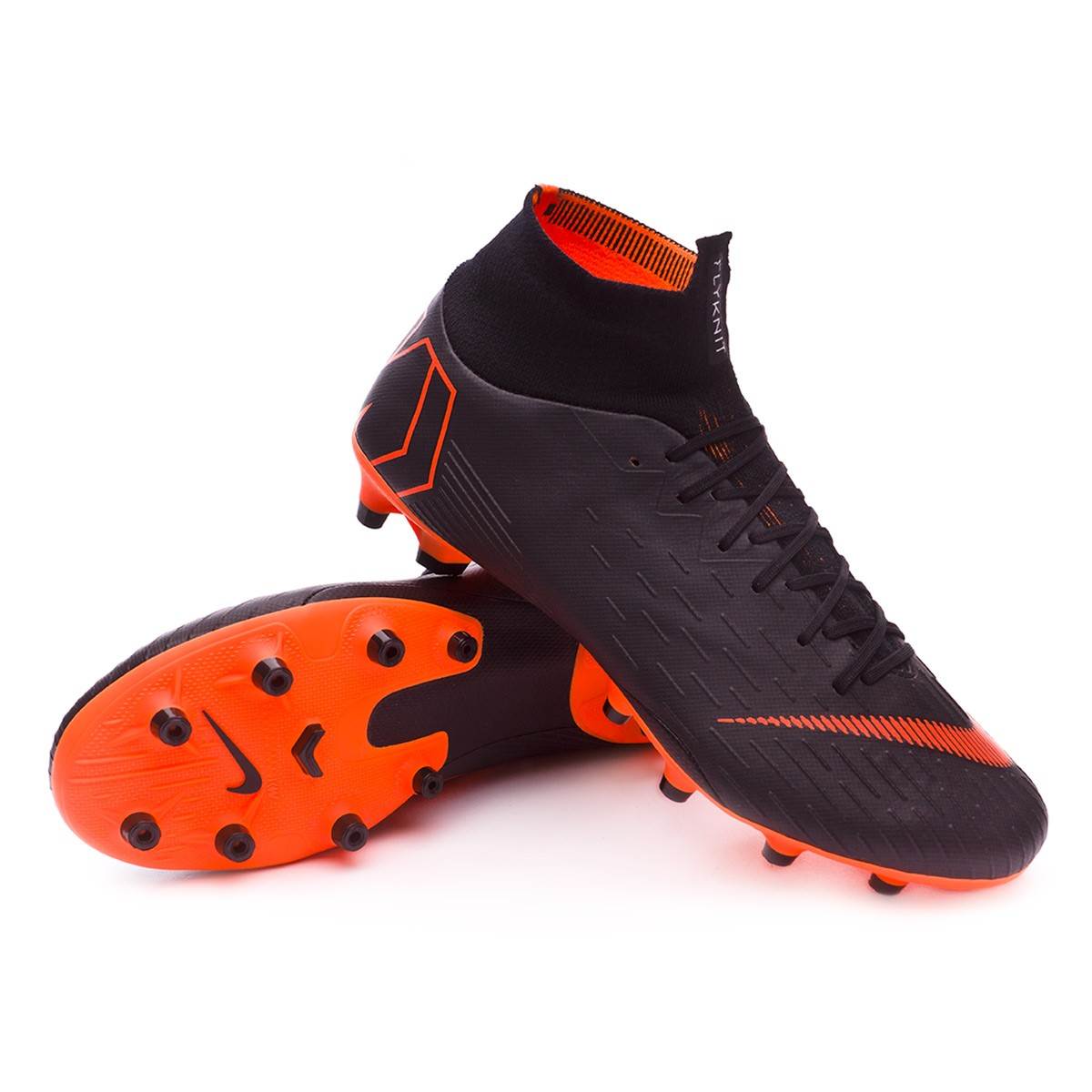 various colors 79133 b6a76 Nike Mercurial Superfly VI Pro AG-Pro Football Boots. Black-Total orange-White  ...