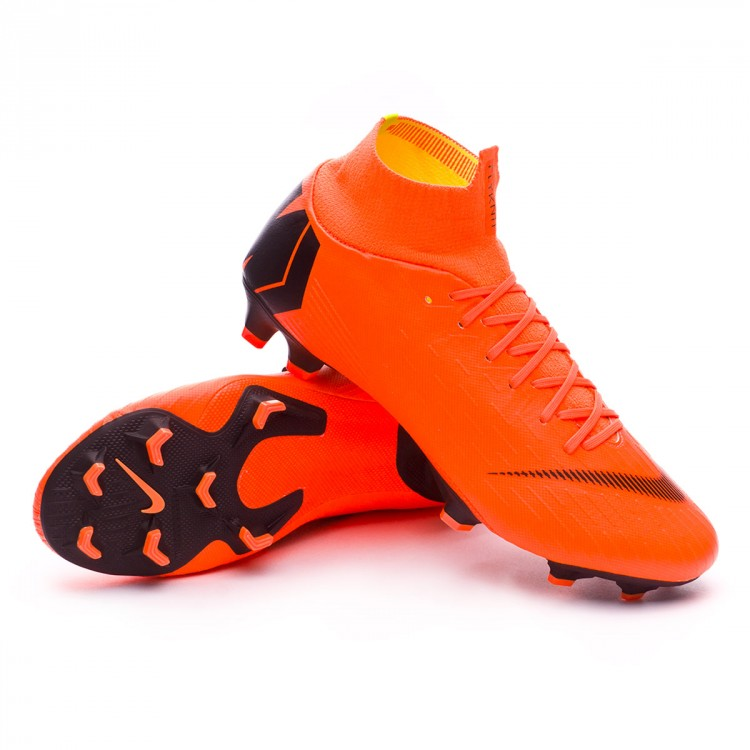 bcad37d685ab Football Boots Nike Mercurial Superfly VI Pro FG Total orange-Black ...