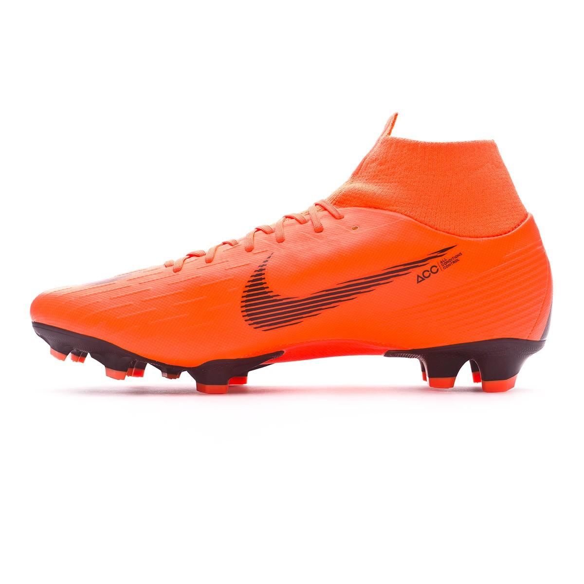 f306e1d56 Football Boots Nike Mercurial Superfly VI Pro FG Total orange-Black-Volt -  Football store Fútbol Emotion