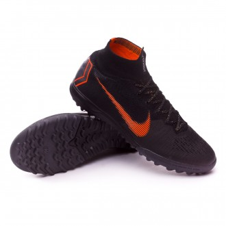 Sapatilhas  Nike Mercurial SuperflyX VI Elite Turf Black-Total orange-White