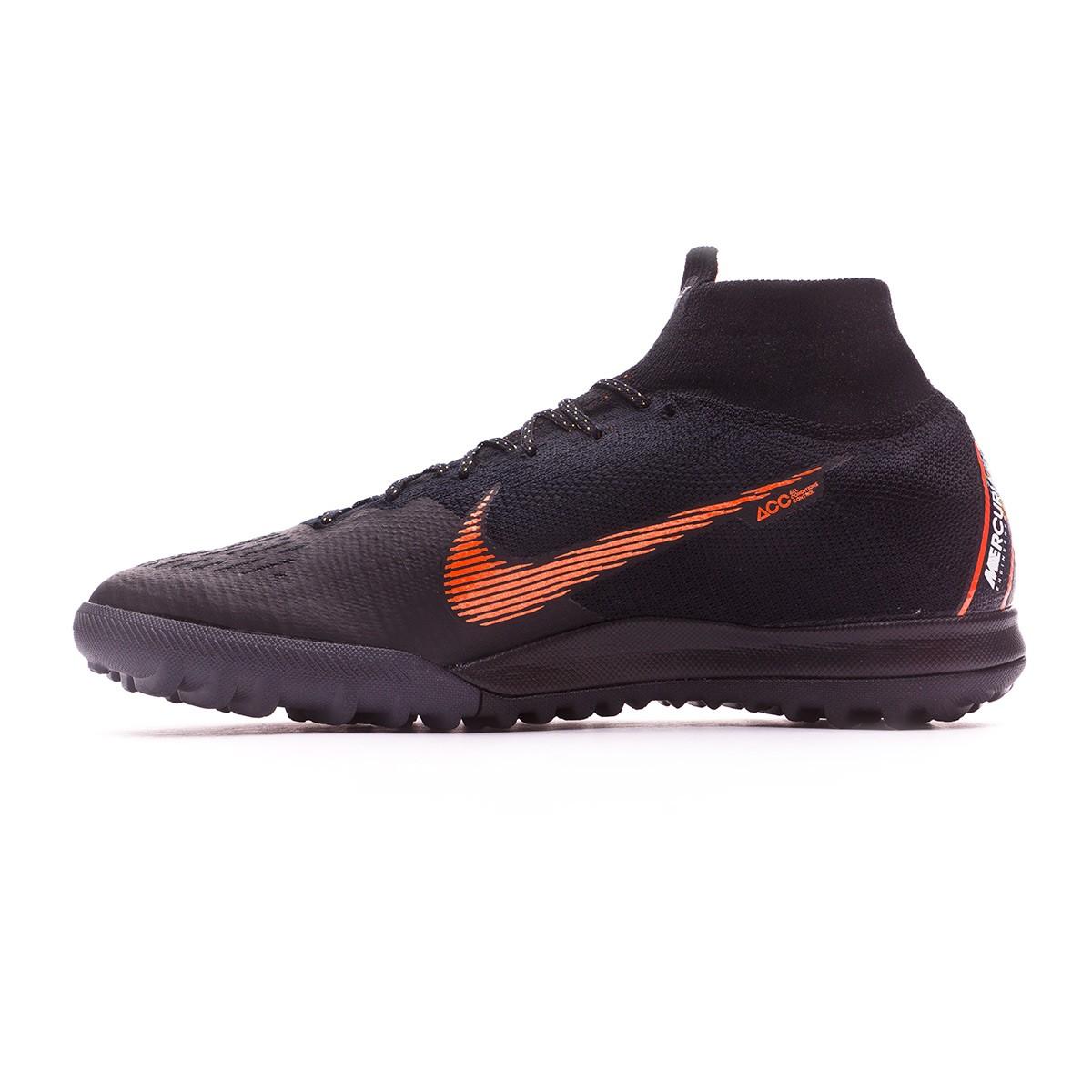 Retencion Prescripción Roble  Football Boot Nike Mercurial SuperflyX VI Elite Turf Black-Total  orange-White - Football store Fútbol Emotion