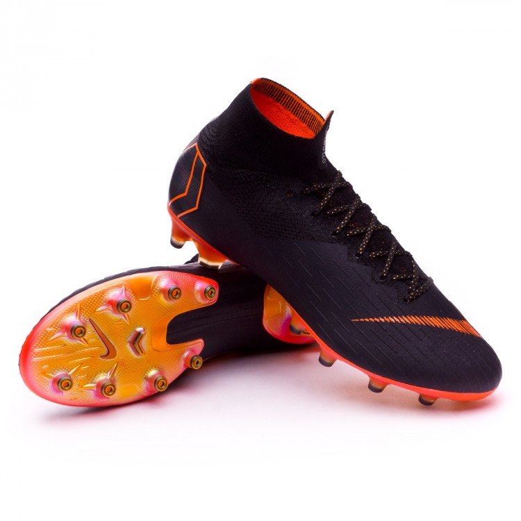 new products 588ef 94136 Bota Mercurial Superfly VI Elite AG-Pro Black-Total orange-White