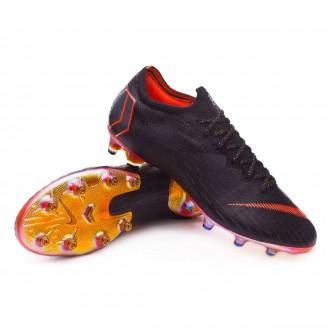 Chuteira  Nike Mercurial Vapor XII Elite AG-Pro Black-Total orange-White