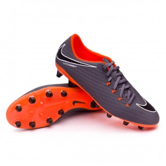 Zapatos de fútbol  Nike Hypervenom Phantom III Academy AG-Pro Dark grey-Total orange-White